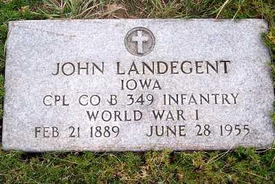 LANDEGENT, JOHN - Sioux County, Iowa   JOHN LANDEGENT