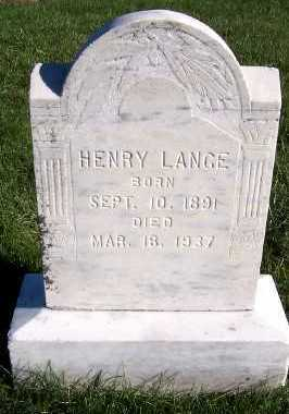 LANGE, HENRY - Sioux County, Iowa | HENRY LANGE