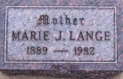 LANGE, MARIE J. - Sioux County, Iowa   MARIE J. LANGE