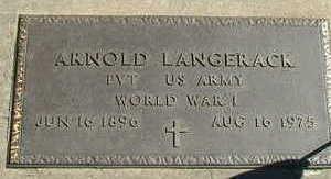 LANGERACK, ARNOLD - Sioux County, Iowa | ARNOLD LANGERACK