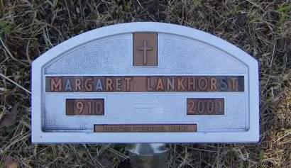 LANKHORST, MARGARET - Sioux County, Iowa | MARGARET LANKHORST
