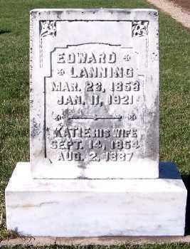 LANNING, KATE (MRS. ED) - Sioux County, Iowa   KATE (MRS. ED) LANNING