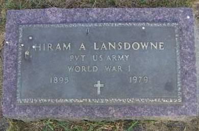 LANSDOWNE, HIRAM A. - Sioux County, Iowa | HIRAM A. LANSDOWNE