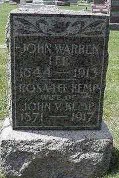 LEE, JOHN WARREN - Sioux County, Iowa | JOHN WARREN LEE