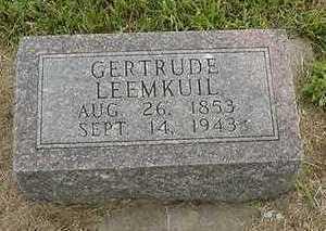 LEEMKUIL, GERTRUDE - Sioux County, Iowa   GERTRUDE LEEMKUIL