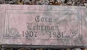 LEHRMAN, CORA - Sioux County, Iowa   CORA LEHRMAN