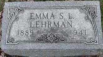 LEHRMAN, EMMA S. L. - Sioux County, Iowa | EMMA S. L. LEHRMAN