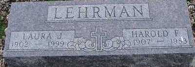LEHRMAN, LAURA J. (MRS. HAROLD) - Sioux County, Iowa   LAURA J. (MRS. HAROLD) LEHRMAN