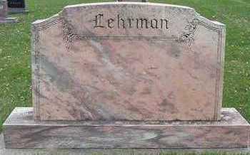 LEHRMAN, HEADSTONE - Sioux County, Iowa | HEADSTONE LEHRMAN