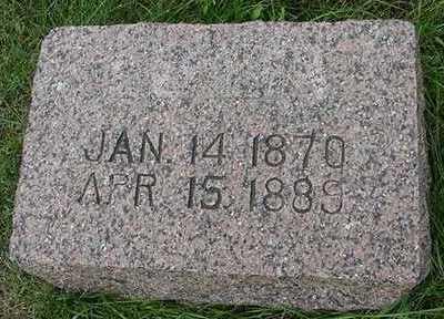 LEMKE, RIGKE  D.1889 - Sioux County, Iowa   RIGKE  D.1889 LEMKE
