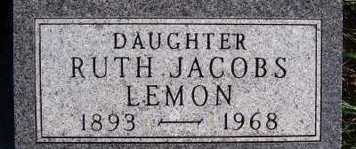 JACOBS LEMON, RUTH - Sioux County, Iowa | RUTH JACOBS LEMON
