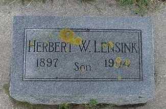 LENSINK, HERBERT W. - Sioux County, Iowa | HERBERT W. LENSINK