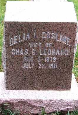 GOSLINE LEONARD, DELIA L. (MRS. CHAS B.) - Sioux County, Iowa | DELIA L. (MRS. CHAS B.) GOSLINE LEONARD
