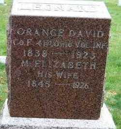 LEONARD, M. ELIZABETH (MRS. ORANGE D.) - Sioux County, Iowa | M. ELIZABETH (MRS. ORANGE D.) LEONARD