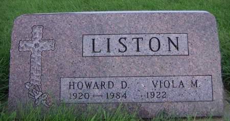 LISTON, HOWARD D. - Sioux County, Iowa | HOWARD D. LISTON
