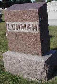 LOHMAN, HEADSTONE - Sioux County, Iowa | HEADSTONE LOHMAN