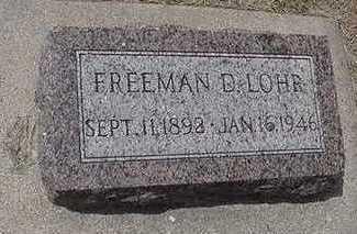 LOHR, FREEMAN D. - Sioux County, Iowa | FREEMAN D. LOHR