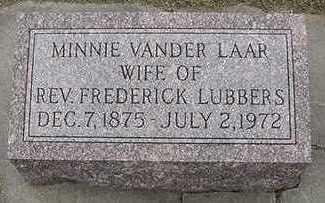 LUBBERS, MINNIE (MRS. FREDERICK) - Sioux County, Iowa   MINNIE (MRS. FREDERICK) LUBBERS