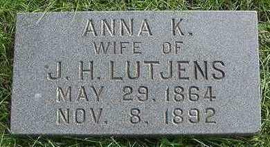 LUTJENS, ANNA K. (MRS. J. H.) - Sioux County, Iowa | ANNA K. (MRS. J. H.) LUTJENS