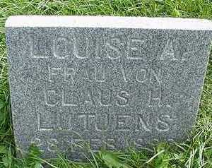 LUTJENS, LOUISE A. (MRS. CLAUS) - Sioux County, Iowa | LOUISE A. (MRS. CLAUS) LUTJENS