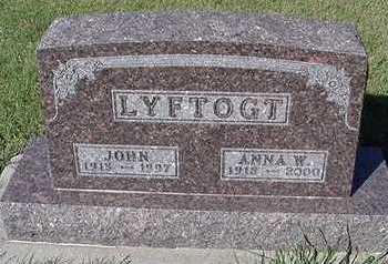 LYFTOGT, ANNA W. (MRS. JOHN) - Sioux County, Iowa | ANNA W. (MRS. JOHN) LYFTOGT