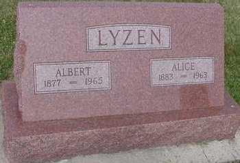 LYZEN, ALICE - Sioux County, Iowa | ALICE LYZEN