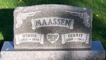 MAASSEN, WINNIE - Sioux County, Iowa | WINNIE MAASSEN