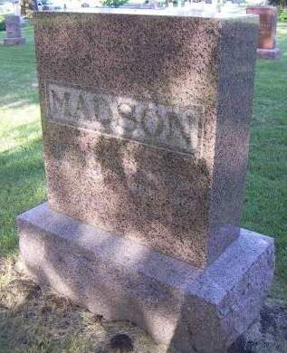 MADSON, HEADSTONE - Sioux County, Iowa | HEADSTONE MADSON