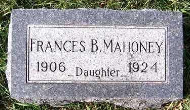 MAHONEY, FRANCES B. - Sioux County, Iowa   FRANCES B. MAHONEY