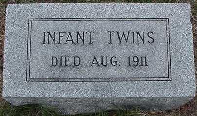 MANDELKOW, INFANT TWINS - Sioux County, Iowa | INFANT TWINS MANDELKOW
