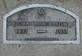 MANDELKOW, JOHN D.1959 - Sioux County, Iowa   JOHN D.1959 MANDELKOW