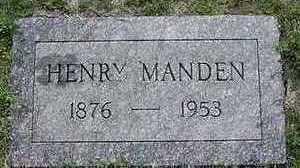 MANDEN, HENRY - Sioux County, Iowa | HENRY MANDEN