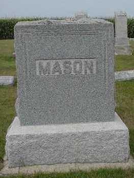 MASON, HEADSTONE - Sioux County, Iowa | HEADSTONE MASON