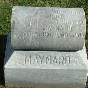 MAYNARD, DOROTHY ANNETTA - Sioux County, Iowa   DOROTHY ANNETTA MAYNARD