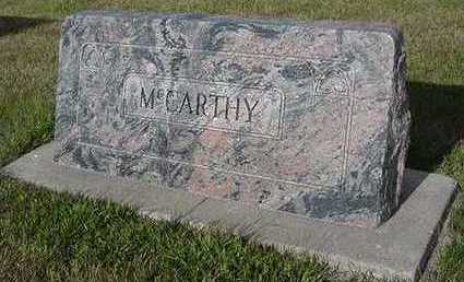 MCCARTHY, HEADSTONE - Sioux County, Iowa | HEADSTONE MCCARTHY