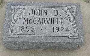 MCCARVILLE, JOHN D. - Sioux County, Iowa   JOHN D. MCCARVILLE