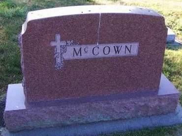 MCCOWN, HEADSTONE - Sioux County, Iowa | HEADSTONE MCCOWN