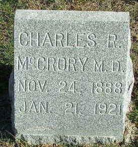 MCCRORY, CHARLES R. (M.D.) - Sioux County, Iowa | CHARLES R. (M.D.) MCCRORY