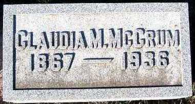 MCCRUM, CLAUDIA M. - Sioux County, Iowa   CLAUDIA M. MCCRUM