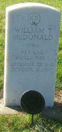 MCDONALD, WILLIAM T. - Sioux County, Iowa | WILLIAM T. MCDONALD