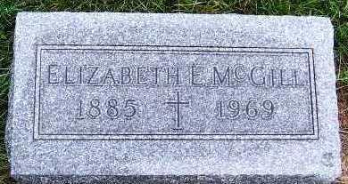 MCGILL, ELIZABETH E. - Sioux County, Iowa   ELIZABETH E. MCGILL