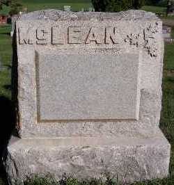 MCLEAN, HEADSTONE - Sioux County, Iowa   HEADSTONE MCLEAN