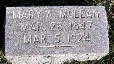 MCLEAN, MARY A. - Sioux County, Iowa | MARY A. MCLEAN