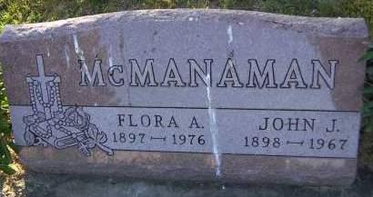 MCMANAMAN, FLORA A. - Sioux County, Iowa | FLORA A. MCMANAMAN