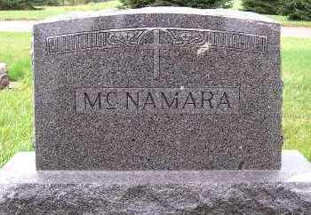 MCNAMARA, HEADSTONE - Sioux County, Iowa   HEADSTONE MCNAMARA