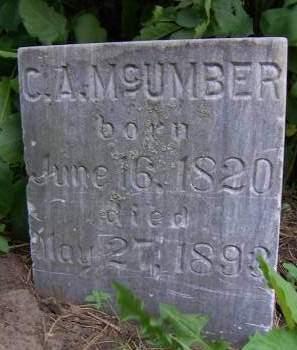 MCUMBER, C. A. - Sioux County, Iowa | C. A. MCUMBER