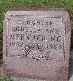 MEENDERING, LOUELLA ANN - Sioux County, Iowa   LOUELLA ANN MEENDERING