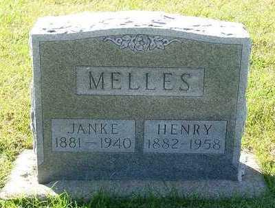 MELLES, JANKE (MRS. HENRY) - Sioux County, Iowa | JANKE (MRS. HENRY) MELLES