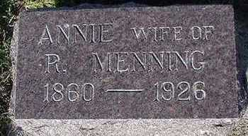 MENNING, ANNA (MRS. R.) - Sioux County, Iowa   ANNA (MRS. R.) MENNING