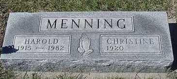 MENNING, CHRISTINE (MRS. HAROLD) - Sioux County, Iowa | CHRISTINE (MRS. HAROLD) MENNING